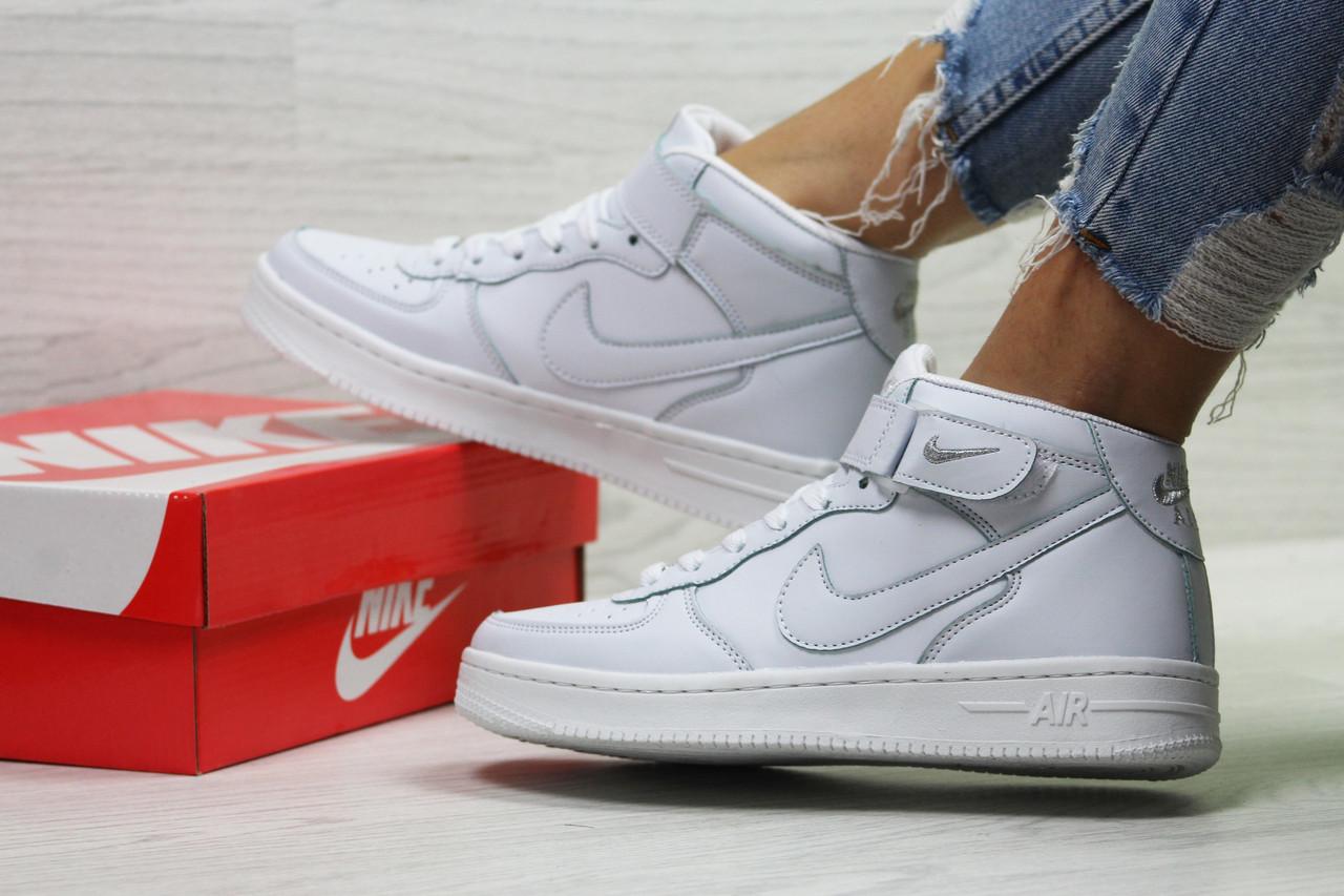 a6dde539 Женские высокие кроссовки Nike Air Force, белые(Реплика): продажа ...