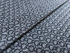 Ткань меланжевый с рисунком кружочки, серый