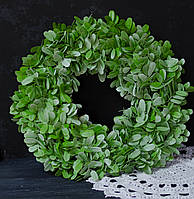 Венок из зелени искусственной 42 см, фото 1