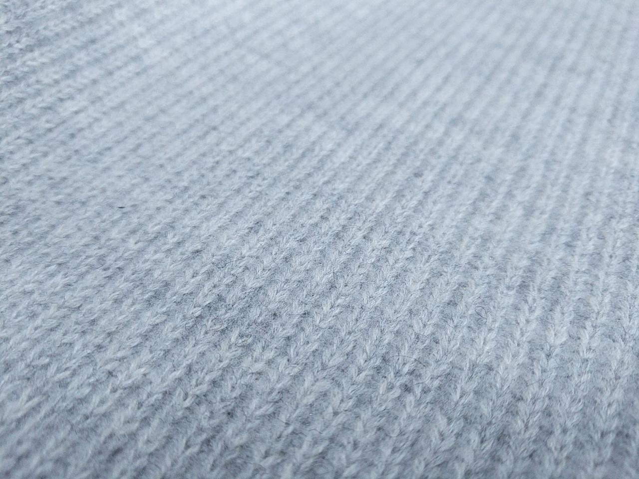 Шерсть пальтовая косичка, светло-серый