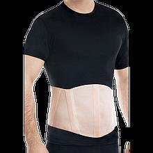 Бандаж противогрыжевой пупочный с ребрами жесткости (бежевый) размер 4 353б-4