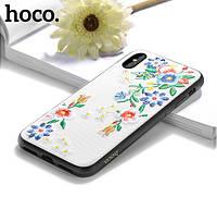 Чехол-накладка Hoco summer flowers вышиванка- цветы разноцветные для iPhone 7 Plus/8Plus