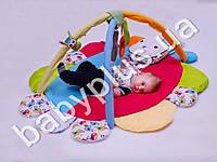 Коврик игровой с дугами и подвесными игрушками Братец кролик