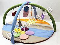 Коврик игровой с дугами и подвесными игрушками Ромашка цветная