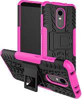 Чехол-накладка TOTO Dazzle kickstand 2 in 1 phone case Xiaomi Redmi 5 Pink