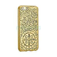 Чехол-накладка St.Benedict Medal Case iPhone 5 Gold