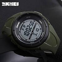 Оригинальные! Спортивные часы Skmei 1025 Dive хаки мужские   Гарантия   Крутая новинка!