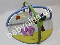 Коврик игровой с дугами и подвесными игрушками Слон