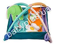 Коврик-манеж с дугами и подвесными игрушками Слоник с мячиком