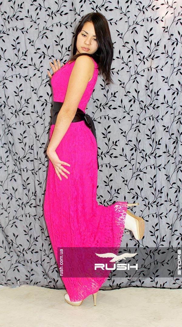 8cc208cb467 Яркое гипюровое платье в пол - RUSH STORE интернет-магазин женской одежды в  Николаеве