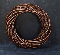 Венок из лозы коричневый 37 см