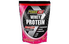 Протеин Power Pro Whey Protein 1kg.  (КЛУБНИКА)