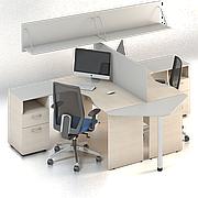 Комплект мебели для персонала серии Сенс композиция №3 ТМ MConcept