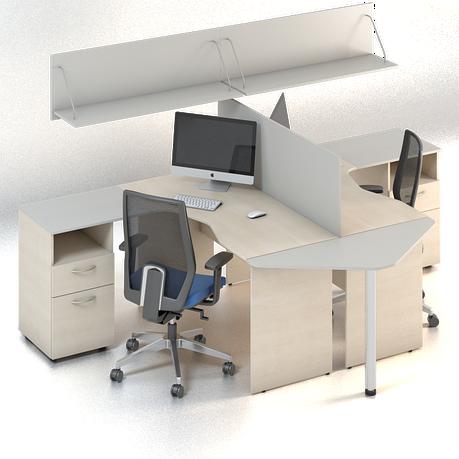 Комплект мебели для персонала серии Сенс композиция №3 ТМ MConcept, фото 2