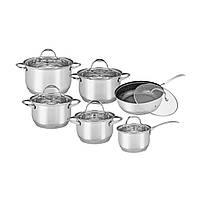 Набор посуды 12 предметов нержавейка Kamille