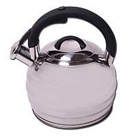 Чайник 3л из нержавеющей стали со свистком и бакелитовой ручкой Kamille 0653, фото 1
