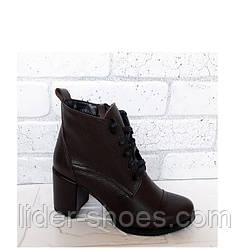 Женские ботинки демисезонные на каблуке