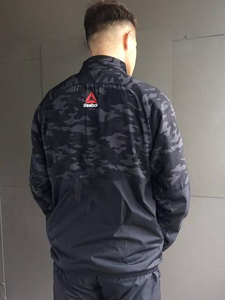 Мужской зимний спортивный костюм Reebok Crossfit.Черный с серым, фото 2