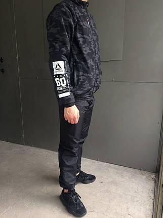 Мужской зимний спортивный костюм Reebok Crossfit.Черный с серым ... cf6a486971e06