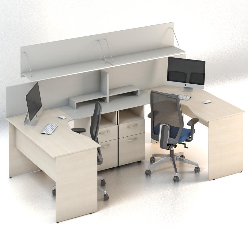Комплект мебели для персонала серии Сенс композиция №4 ТМ MConcept