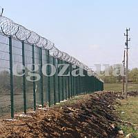 Колючая проволока Егоза Стандарт 400/3 спиральный барьер