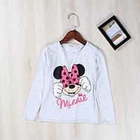 """Детская футболка с длинным рукавом """"Minnie Mouse"""" для девочек 110,120,140,150"""