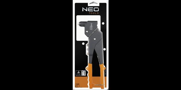 Заклепочник для заклепок стальных и алюминиевых 2.4, 3.2, 4.0, 4.8 мм, NEO  18-102, фото 2