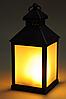 Фонарь со свечой ЛЕД+таймер  23см (пластик) черный