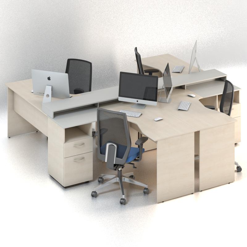 Комплект мебели для персонала серии Сенс композиция №6 ТМ MConcept