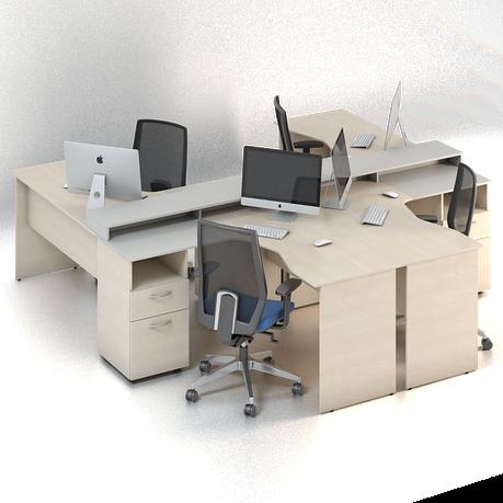 Комплект мебели для персонала серии Сенс композиция №6 ТМ MConcept, фото 2