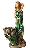 Садовая фигурка Светлана в зеленом платье 70 см