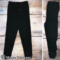 Чёрные кальсоны с начёсом для мальчика подростка Размеры: 7-8,9-10,11-12 лет (7280)