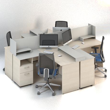 Комплект мебели для персонала серии Сенс композиция №7 ТМ MConcept, фото 2
