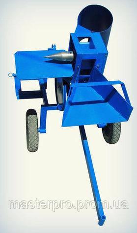Измельчитель веток с дровоколом (ТИП - 2) ПРЕМИУМ + конус + стол для дровокола