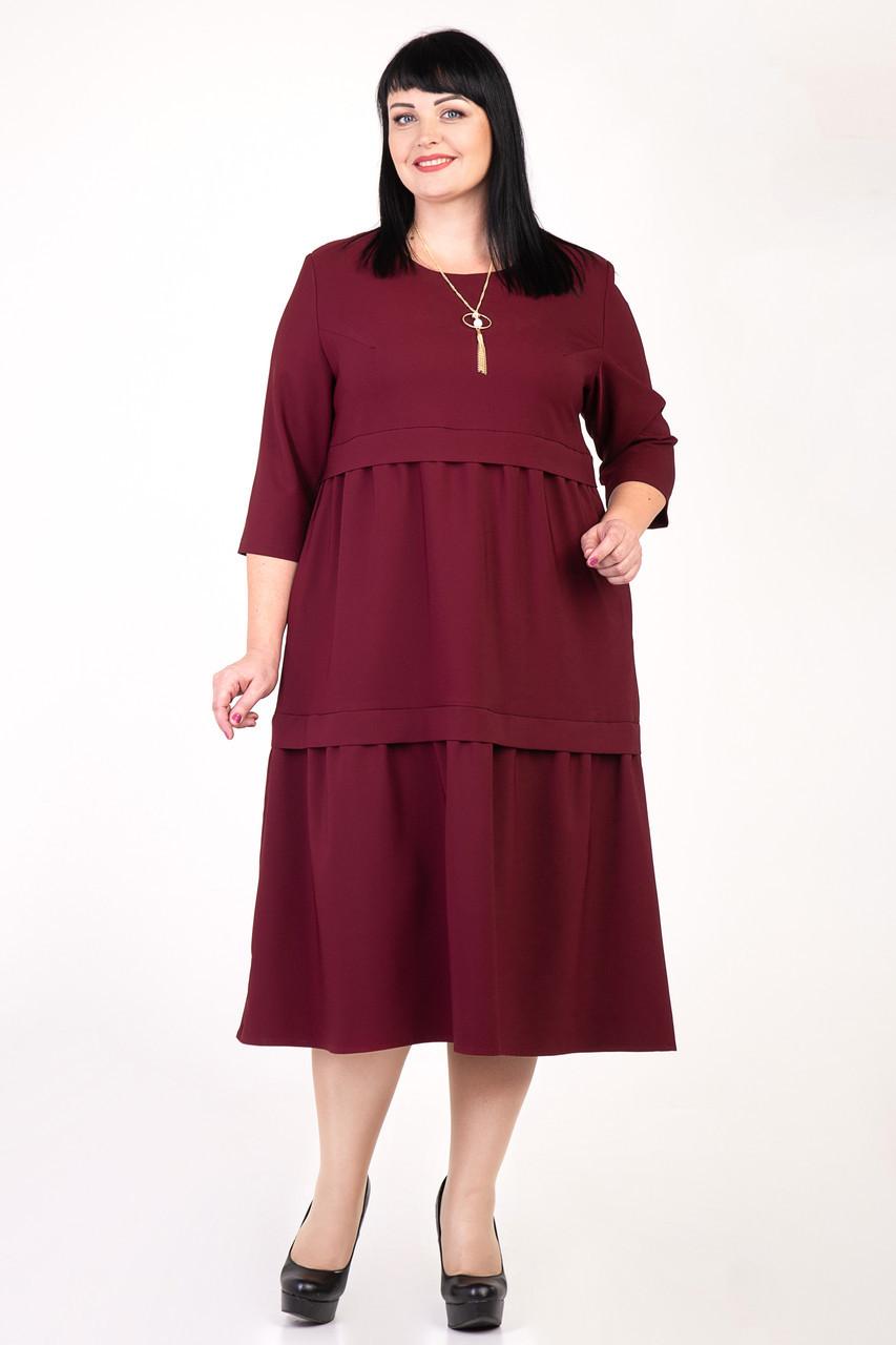 00c4221eafc Красивое женское платье цвета бордо  продажа