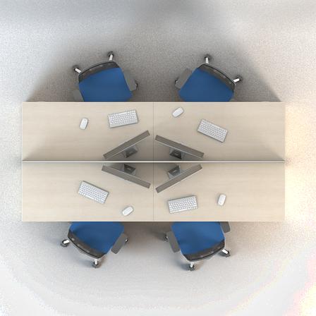 Комплект мебели для персонала серии Сенс композиция №8 ТМ MConcept, фото 2
