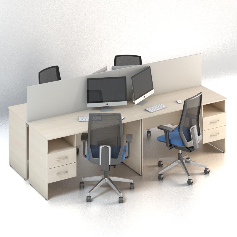 Комплект мебели для персонала серии Сенс композиция №8 ТМ MConcept