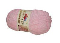 Плюшевая пряжа розовый цвет  HIMALAYA DOLPHIN BABY №80319 Львов