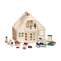 Домик деревяный для кукол Melissa&Doug MD795 (меблированый)