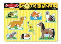 Пазл детски Домашние животные Melissa&Doug MD730 (звук)