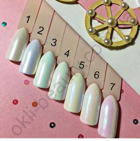 Жемчужная втирка №5 для дизайна ногтей
