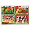 Набор из 4 пазлов Животные на ферме Melissa&Doug MD3793