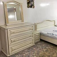 Комод деревянный, дубовый Бухарест белый