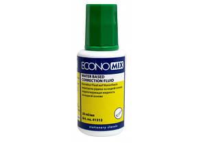 Корректор-жидкость Economix, водная основа 20 мл.