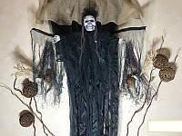 Мумия невеста с криком и движущимися крыльями Halloween 100 см Белая, Черная, фото 1