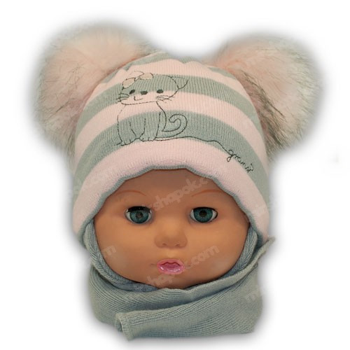 Комплект (шапка + шарф) для дівчинки