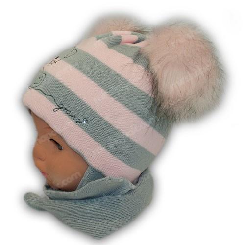 Комплект (шапка+шарф) для дівчинки