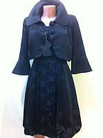 Чёрное  платье тюльпан  с болеро