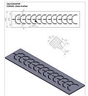 Шевронная конвейерная лента KALE C25P450