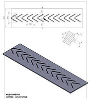 Шевронная конвейерная лента KALE C15P380